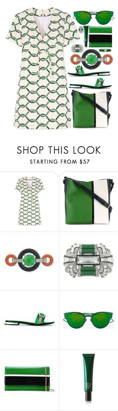 """Another sunny day"" by sunnydays4everkh ❤ liked on Polyvore featuring Tory Burch, Lanvin, Kenneth Jay Lane, Toga, Christian Dior, Hermès and Adolfo Courrier"