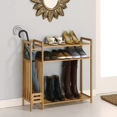 Organize It All Utility Entryway 3-Tier Shoe Rack