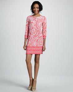 Cute Spring Dress:  Ali Ro Paisley Print Jersey Dress Neiman Marcus
