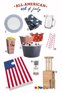 Summer Party Ideas Red, White and Blue Style | Sugar and Charm #chillingrillin
