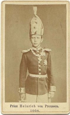 Heinrich prince of Prussia. Brother of Kaiser Wilhelm II of Germany.