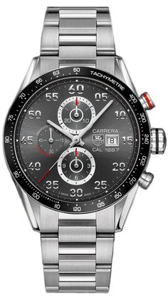 CAR2A11.BA0799  NEW TAG HEUER CARRERA CALIBRE 1887 MENS LUXURY WATCH IN STOCK   - FREE Overnight Shipping | Lowest Price Guaranteed    - NO SALES TAX (Outside California)- WITH MANUFACTURER SERIAL NUMBERS- Anthracite Dial- Black Ceramic Bezel - Chronograph Feature - Self Winding Automatic Movement- Sapphire Crystal Exhibition Back - 3 Year Warranty- Guaranteed Authentic- Certificate of Authenticity- Polished with Brushed Steel Case