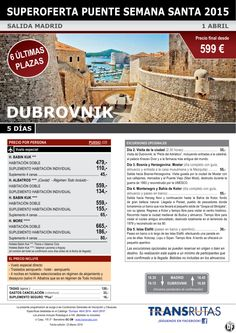 DUBROVNIK / 5 días ¡¡6 Últimas Plazas Puente Semana Santa: 1 abril!! sal. Madrid ultimo minuto - http://zocotours.com/dubrovnik-5-dias-6-ultimas-plazas-puente-semana-santa-1-abril-sal-madrid-ultimo-minuto/
