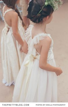 Sweet polka dots! Flower girls.