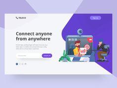 Teleco : App Landing Page Header Exploration