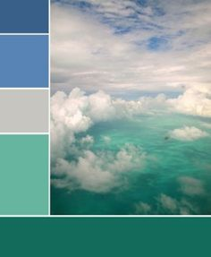Turquoise-to-blue