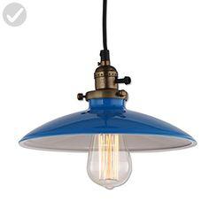 JEMMY HO Metal Pendant Light Dia 10 Inches Mini Vintage Industrial Barn Pendant Lamp (Blue) - Unique lighting lamps (*Amazon Partner-Link)