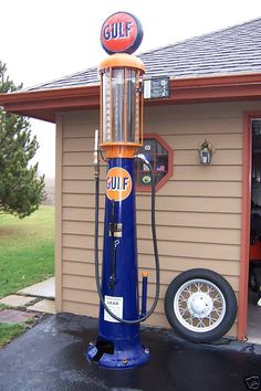 Antique Gulf Gas Pump