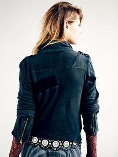 Free People We The Free Moto Patch Jacket at Free People Clothing Boutique