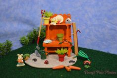 Miniature Potting Bench Set, Fairy Garden Potting Bench Set, Dollhouse Garden Potting Bench Set, Mini Potting Bench, Miniature Garden Bench