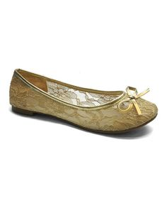 Another great find on #zulily! Beige Lace Betty Flat by Betani #zulilyfinds