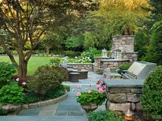 Garden Ideas New England great landscaping.like the mix with the planters sudbury