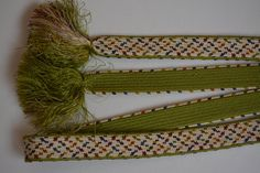 Obi-jime silk kimono cord, pink, green, cream and red, vintage Japanese by StyledinJapan on Etsy