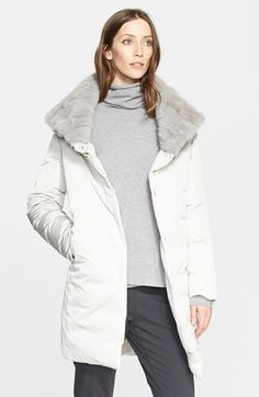 Fabiana+Filippi+Down+Coat+with+Genuine+Mink+Collar+available+at+#Nordstrom