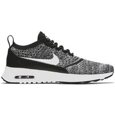 Nike Nike Air Max Thea Ultra Flyknit ($150) ❤ liked on Polyvore featuring shoes, athletic shoes, traction shoes, flyknit shoes, lock shoes, leather footwear and light weight shoes