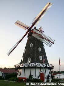 Only Working Danish Windmill In America  in Elk Horn, Iowa