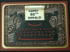 80th Birthday Card to Gerald 2013 - front -