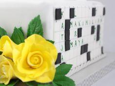 Kreuzworträtsel Torte Motiv Crossword Cake