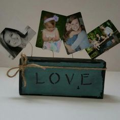 Rustic photo block