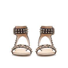 STUDDED LEOPARD PRINT SANDALS - Shoes - Woman - ZARA Germany
