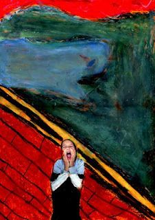 Munsch The Scream - my kids love art with themselves in it!