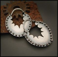 Earrings | Victoria Takahashi.  Sterling silver.