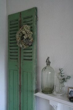 green shutter doors.....I would find a place for these:)