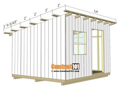 lean to shed plans - roof purlins. shed-plans-diy