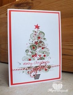 Magical Scrapworld: Merry Christmas, Dots challenge, Stampin' Up! Christmas card
