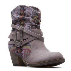 Justified booties in grey $39.95