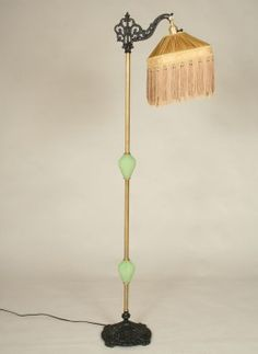 Marble lamp antique floor brass and