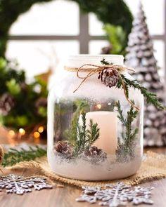Ways To Use Candles For Christmas Season 25 Pretty Christmas Makeup Ideas. Christmas Candles, Christmas Centerpieces, Rustic Christmas, Christmas Home, Christmas Crafts, Christmas Ornaments, Christmas Ideas, White Christmas Snow, Christmas Interiors
