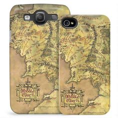 The Lord of the Rings Middle-earth Map Phone Case umm yes please!!