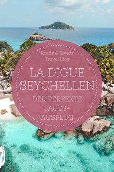 Du planst einen Tagesausflug auf La Digue? Dann solltest du auf jeden Fall eine Tour auf die Trauminseln Coco und Big Sister Island unternehmen. Während deines Seychellen Urlaubes gehört eine Schnorcheltour einfach dazu. Wir haben die besten Tipps und Geheimtipps für deine Seychellen Reise. Seychellen Urlaub   Seychellen Reise   Seychellen Tipps   Inselhopping Rivers, Roads, Tricks, Backpacking, Travel Destinations, Places To Go, Road Trip, Outdoor, Western Canada