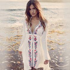 Sewell Women's Chiffon Polka Dot Kimono Cardigan Long Blouses Bikini Covers Up…