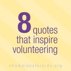 Quotes for Motivation and Inspiration QUOTATION – Image : As the quote says – Description 8 Quotes that encourage Volunteers and Volunteer Work – Raising Champions - Volunteer Quotes, Volunteer Gifts, Volunteer Work, Volunteer Ideas, Thank You Volunteers, Parent Volunteers, Volunteers Needed, Appreciation Quotes, Volunteer Appreciation