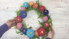 * Spring painted-pinecone wreath - Here's why pinecones are DEFINITELY not just for fall wreaths