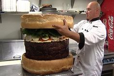 The world's biggest burger  This vast, terrifying meat slab - weighing in at more than 13st - is officially the world's largest burger, as certified by the Guinness Book of World Records.