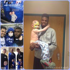Meet 7 year old Kelly Melton. He was diagnosed with leukemia in November of 2012. Kelly has been undergoing intense chemotherapy sessions at UK Children's Hospital since being diagnosed. A variety of UK players have developed friendships with him ranging from basketball player Nerlens Noel, football players Martavius Neloms, Landon Foster, and more. Kelly is now halfway through his 9-month treatment plan. Check out the KickinIt4Kelly Facebook page to learn more! Keep smiling Kelly!