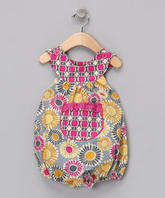 Take a look at this Hot Pink Gerber Daisy Bubble Bodysuit - Infant by Beary Basics on #zulily today!