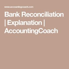 How Bank Reconciliation Statement Is Prepared  Higher Studies