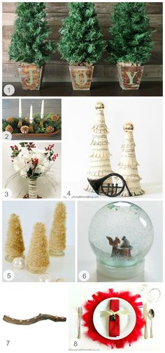 Here are some #tabescape #décor pieces that you can make yourself. These pieces can be placed on a #table, #mantel, or floor, depending on how big or small you make them. #holidays