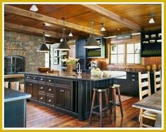 I love Rustic Kitchens