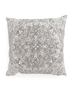 Made In India 20x20 Damask Pillow (Beaded Silver, Cynthia Rowley, $24.99) @ TJX
