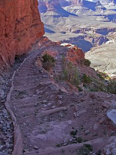 grand canyon bright angel trail photos | Grand Canyon - South Kaibab Trail, Bright Angel Trail