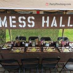 Mash Bash, Mash tv show, Mash television show, Mash theme party, army party… Military Send Off Party Ideas, Military Retirement Parties, Military Party, Retirement Ideas, Camouflage Party, Camo Party, Party Fun, Sleepover Party, Army Birthday Parties
