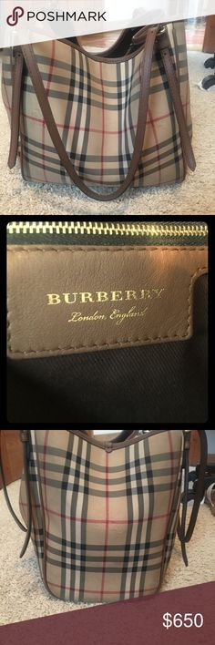 Slightly used Burberry small Canterbury tote! I bought this tote about 7 months ago! I bought from Nordstrom for $995.00. It Is in great condition! Includes dust bag! Made in Italy. Burberry Bags Totes