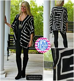 A-Maze Me Cardigan ~ Like Us & Shop Us on Facebook: www.Facebook.com/EllaBleuBoutique