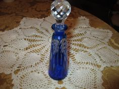 Vintage Colbalt Blue Perfume Bottle by BitofHope on Etsy, $55.00