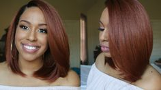 $40 | Gorgeous Copper Bob! | Brown Sugar BS226 Lace Front Wig [Video] - https://blackhairinformation.com/video-gallery/40-gorgeous-copper-bob-brown-sugar-bs226-lace-front-wig-video/